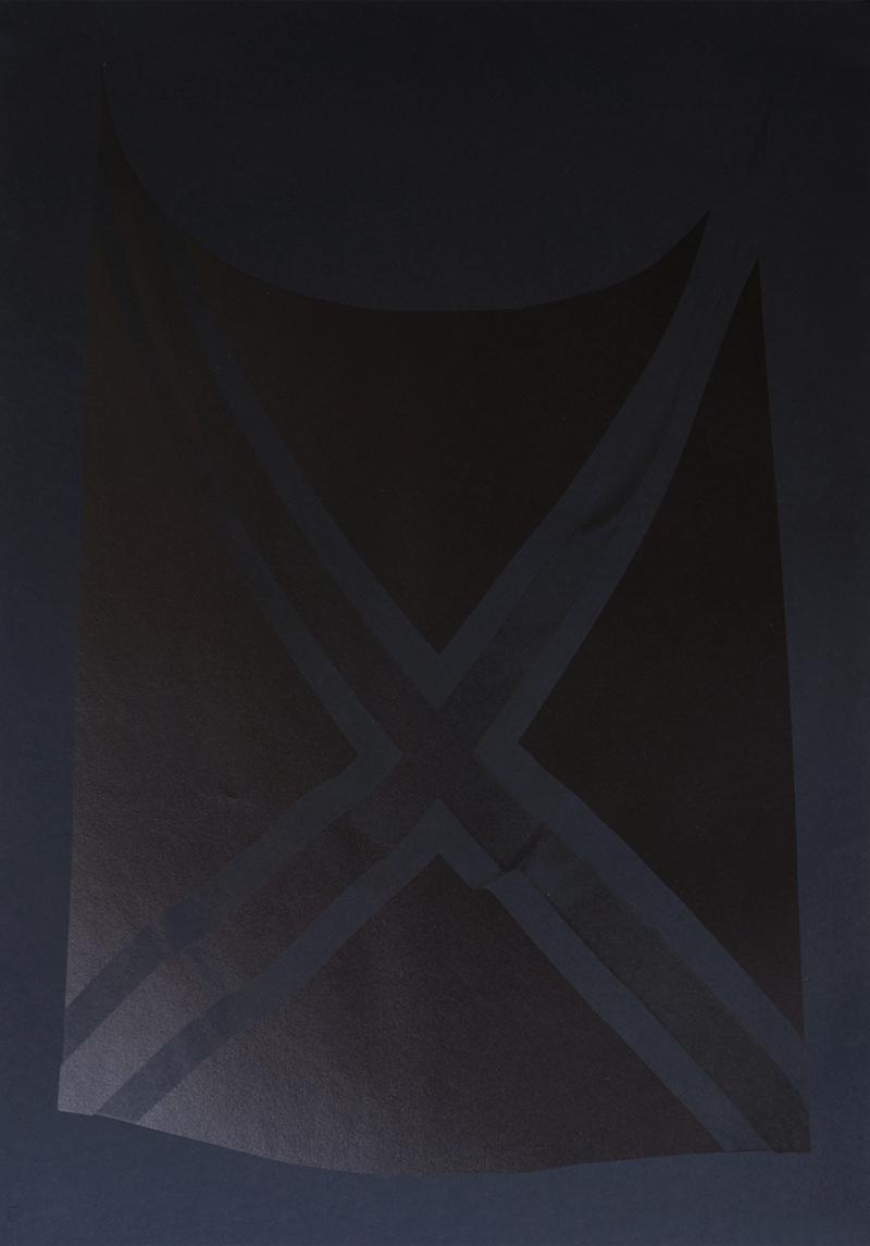 Pirates [II], flatbed inkjetprint on 160 grs black Canson MI-Teintes paper, 2016, Alexandra Crouwers