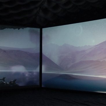 exhibition overviews, multichannel video installation, animation art